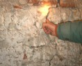 szentély feletti attikafal repedése